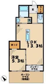 サクラーレ1階Fの間取り画像