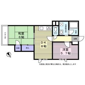 コラール大倉山1階Fの間取り画像