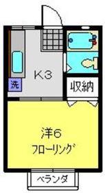 ハイツアオキ2階Fの間取り画像