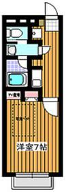 サンライズハウスA棟2階Fの間取り画像