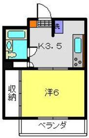 芥川ビル3階Fの間取り画像