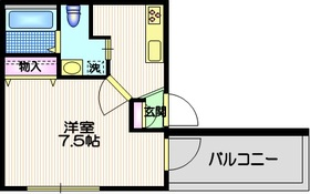 メゾン・ド・芝4階Fの間取り画像