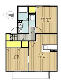 アタラクシア1階Fの間取り画像