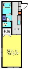 クリスタハイツ1階Fの間取り画像
