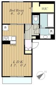 クレシェンテ3階Fの間取り画像