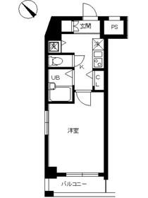 スカイコート板橋第23階Fの間取り画像