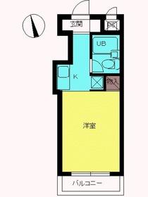 スカイコート西川口3階Fの間取り画像