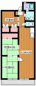 成増クリーンビル9階Fの間取り画像