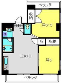アーバンコート4階Fの間取り画像