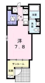 ヒルサイド菊名Ⅰ1階Fの間取り画像