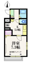 ヴィルクレール13階Fの間取り画像