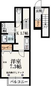 ヴァイスハウス2階Fの間取り画像