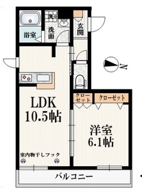 牛込神楽坂駅 徒歩4分2階Fの間取り画像