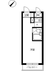 スカイコート日吉24階Fの間取り画像