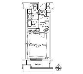 パークアクシス御茶ノ水ステージ12階Fの間取り画像