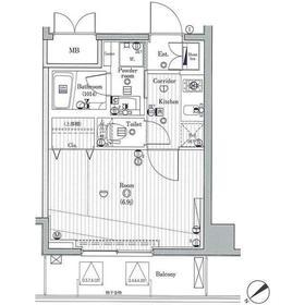 ジーコンフォートウエスト新横浜2階Fの間取り画像