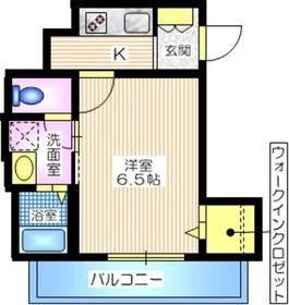 ao yokohama4階Fの間取り画像