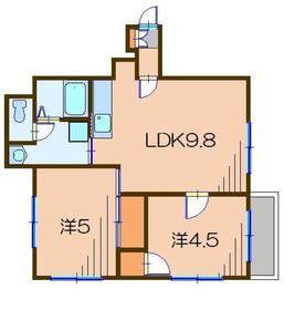 大成屋ビル(オオナリヤビル)5階Fの間取り画像