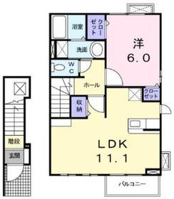 ラフレシール2階Fの間取り画像