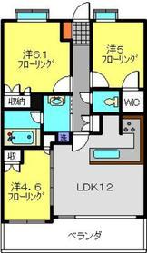 ライオンズ日吉アーティスフォート5階Fの間取り画像