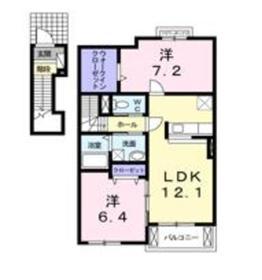 ヒルサイドハウスYH I 2階Fの間取り画像