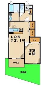 町田駅 バス14分「図師大橋」徒歩3分1階Fの間取り画像