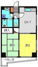 第10Z西村ビル5階Fの間取り画像