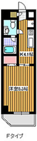 地下鉄成増駅 徒歩14分3階Fの間取り画像