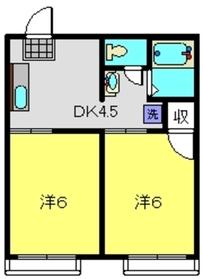 ニュー綿貫ハイツ1階Fの間取り画像