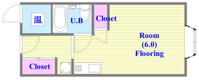 アリタマンション長瀬 シンプルな住み心地を実感できる素敵な間取りになってます。