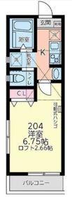 サンシエスタ西谷Ⅱ2階Fの間取り画像