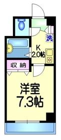 エレガンスタカハシ4階Fの間取り画像
