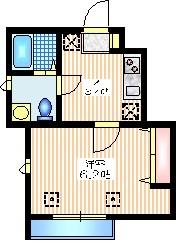 YU1階Fの間取り画像