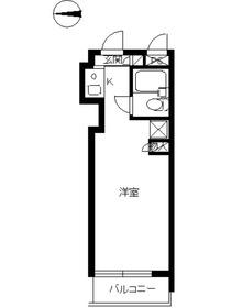 スカイコート荻窪第21階Fの間取り画像