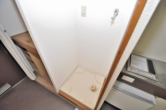 アリタマンション長瀬 嬉しい室内洗濯機置場。これで洗濯機も長持ちしますね。