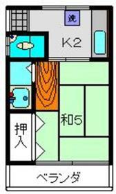 上星川駅 徒歩4分2階Fの間取り画像