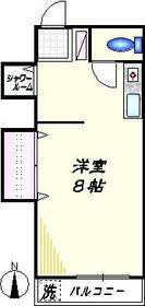 ハイツシバ3階Fの間取り画像