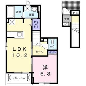 北八王子駅 徒歩9分2階Fの間取り画像