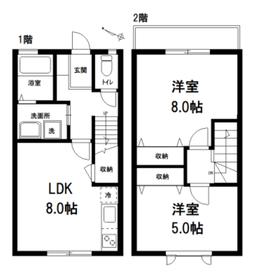 田中コーポ1-2階Fの間取り画像