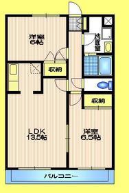 コートエクセリアK2階Fの間取り画像