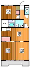 地下鉄赤塚駅 徒歩21分1階Fの間取り画像
