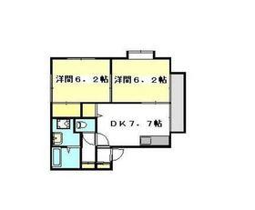 ブリランテ壱番館2階Fの間取り画像