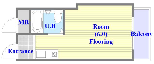 グランドハイツ大今里 シンプルな単身さん向けのお部屋です。