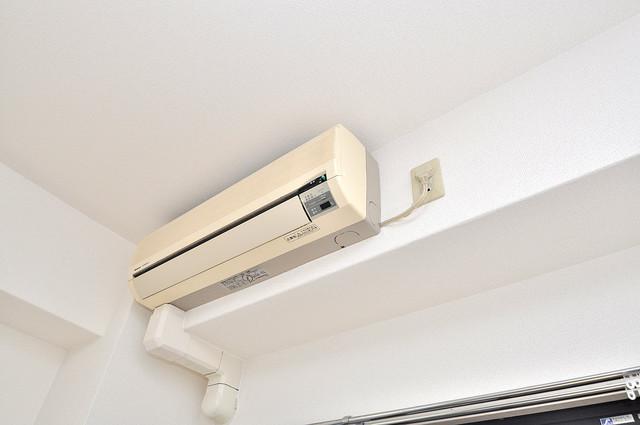 スリーゼ菱屋西 エアコンが最初からついているなんて、本当に助かりますね。