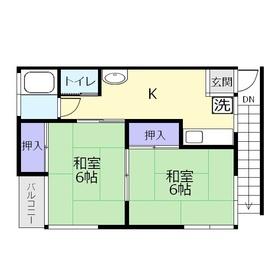 コートヒル上福岡2階Fの間取り画像