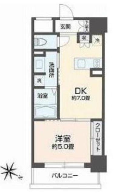 リエトコート元赤坂間取図