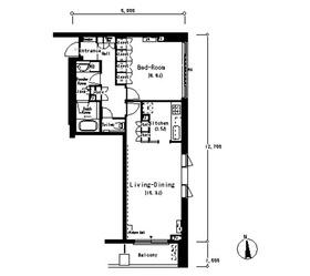 ルフォンプログレ南麻布8階Fの間取り画像