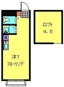 アップルハウス弘明寺21階Fの間取り画像
