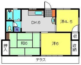 サンコーポ二俣川1階Fの間取り画像