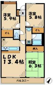 プラネット貝取2階Fの間取り画像